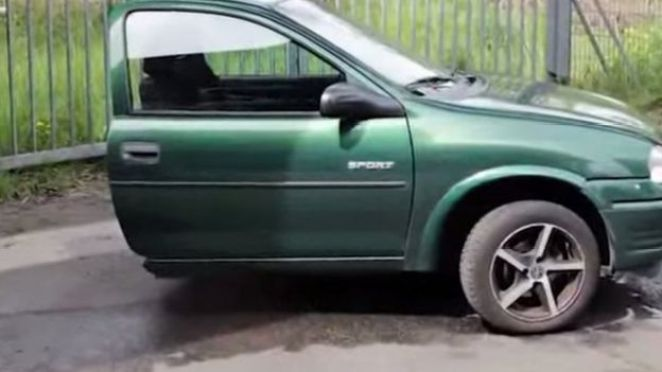 Picture of half a car