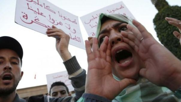 Protestas en el norte de Marruecos.