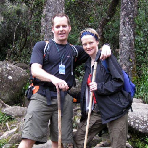 Stephen y Catherine McGown en unas vacaciones (Foto: Stephen McGown)