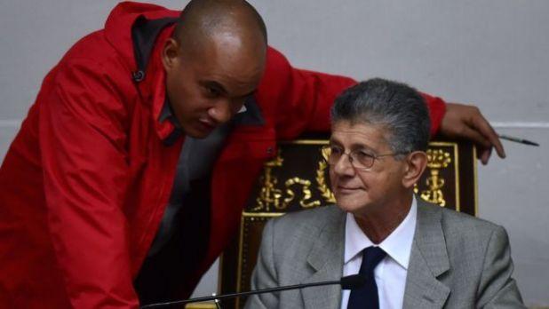 Henry Ramos, presidente de la Asamblea, y Héctor Rodríguez, líder de la bancada oficialista
