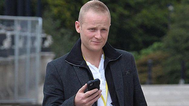 Loyalist blogger Jamie Bryson