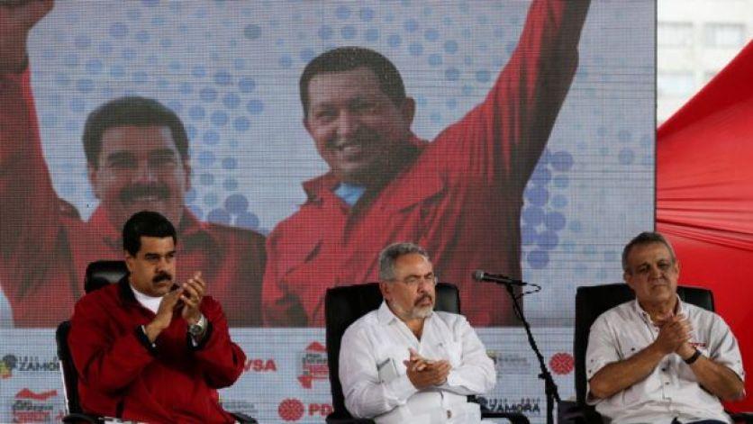 Nicolás Maduro, Nelson Martínez y Eulogio del Pino.