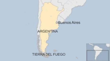 Mapa de Tierra del Fuego