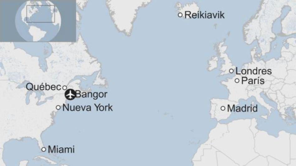 Ciudades de vuelos trasatlánticos