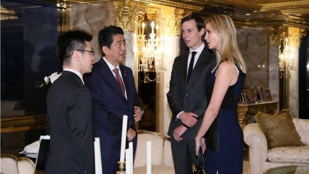 Shinzo Abe com Ivanka Trump