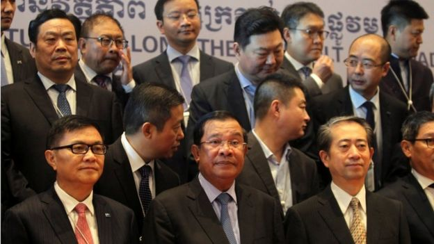 Thủ tướng Hun Sen và các doanh nhân Trung Quốc