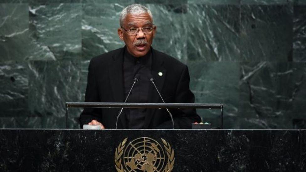 David Granger, presidente de Guyana.