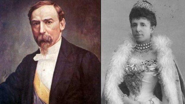 Carlos Holguin y la reina Maria Cristina de España