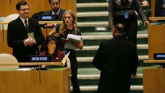 UN General Assembly during vote on Jerusalem resolution (22/12/17)