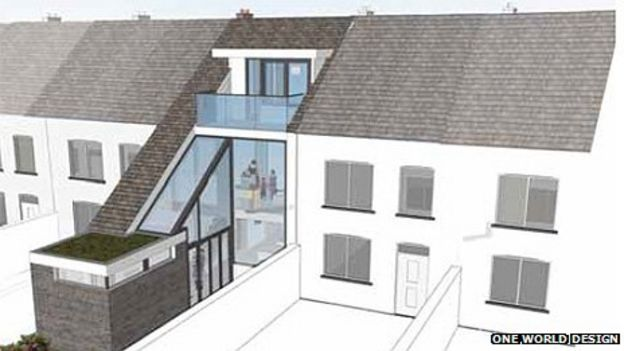 Terraced Homes Architects' Twist On Welsh Tradition BBC News
