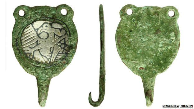 Hooked Tag showing eagle, possibly symbolising St John the Baptist