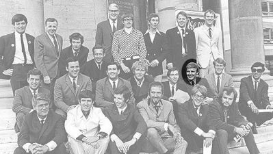 A group shot of Radio 1's first DJs in 1967