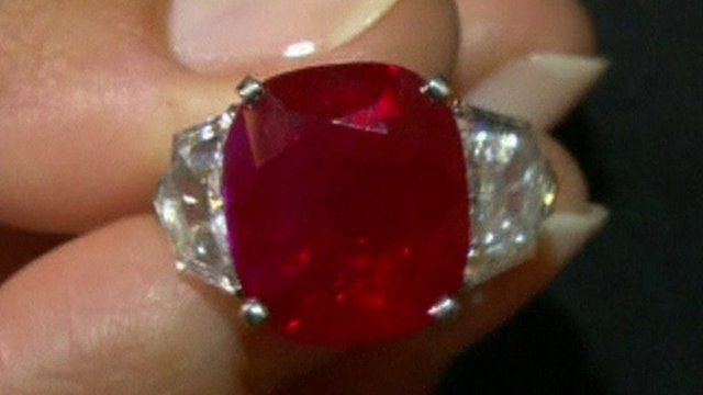Worlds Most Expensive Coloured Gem Sells For 30m BBC News