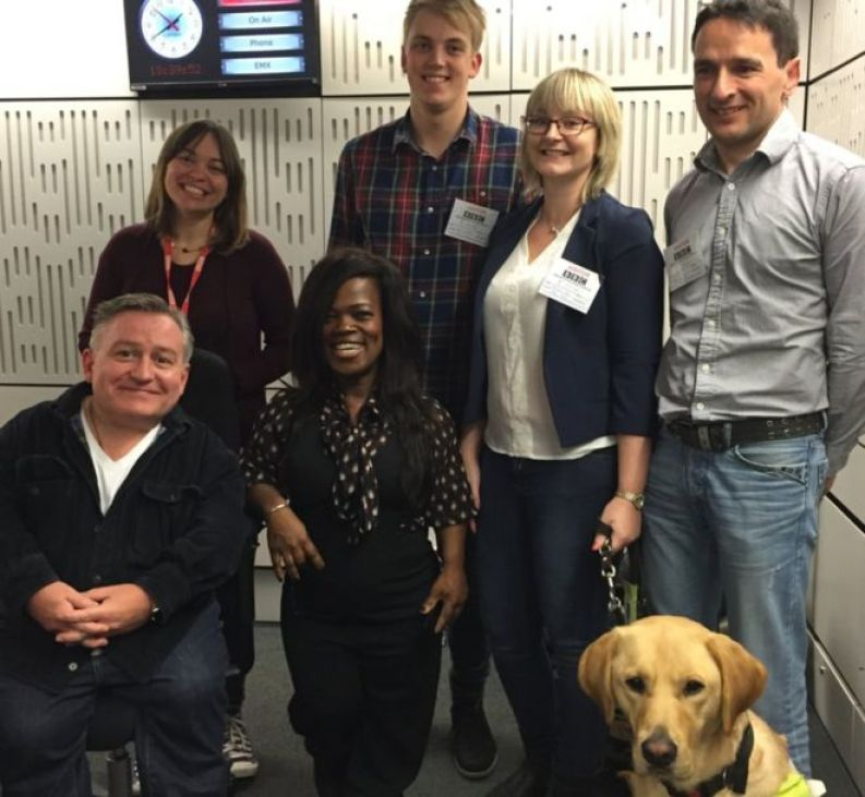BBC Ouch guests in the studio with the presenters