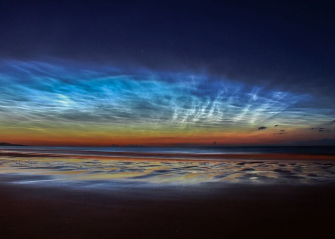 Sunderland Noctilucent Cloud Display - north-east England - by Matt Robinson (Skyscapes, Runner Up)
