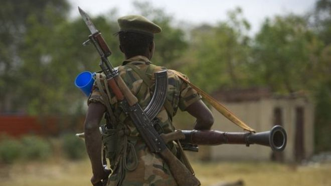Soldado no Sudão do Sul