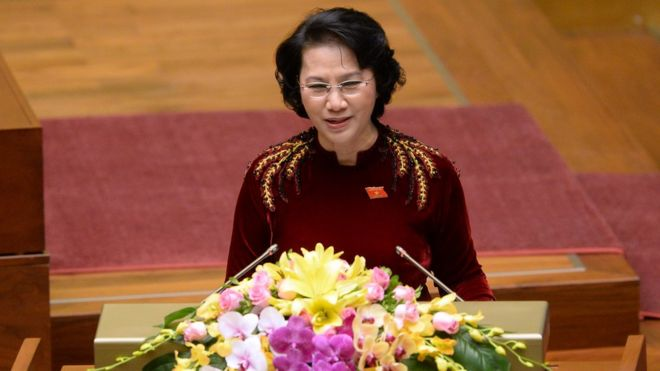 Vietnam national assembly chairwoman Nguyen Thi Kim Ngan
