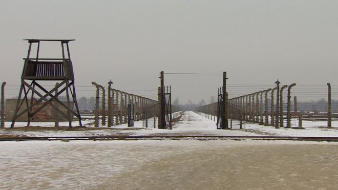 The Auschwitz-Birkenau concentration camp