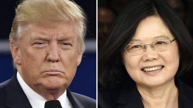 Ông Donald Trump và bà Thái Anh Văn