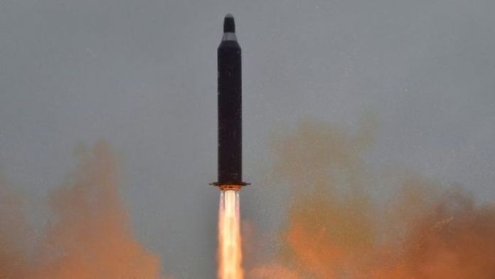 North Korea test-fires a ballistic missile. Archive photo