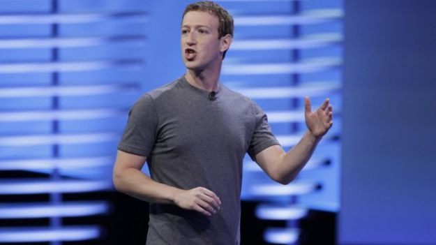 Mark Zuckerberg probably facing down an angry mob of Facebook employees