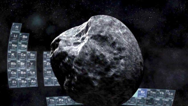 Vue d'artiste d'un astéroïde