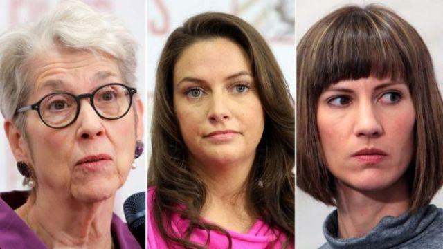 Jessica Leeds, Samantha Holvey y Rachel Crook