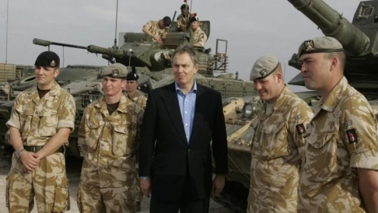 Tony Blair in Iraq