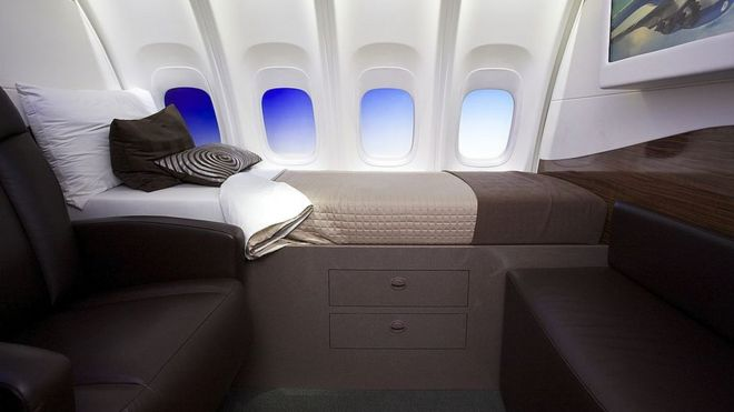 Cabina de un avión.
