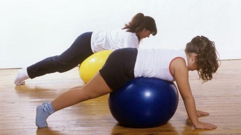 girls exercising on fitness balls