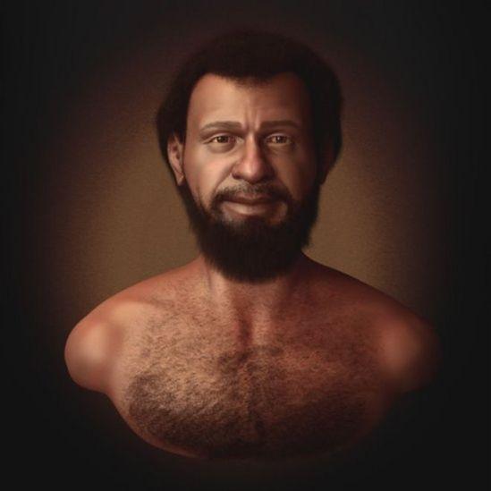 Ilustração de um rosto que poderia ser o de Jesus