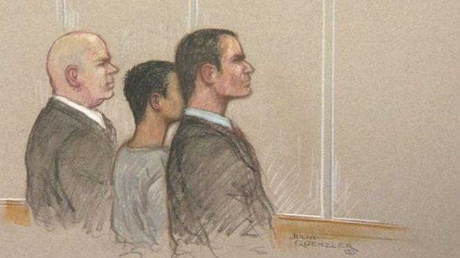 Court sketch of teenage boy held over Australia terror plot