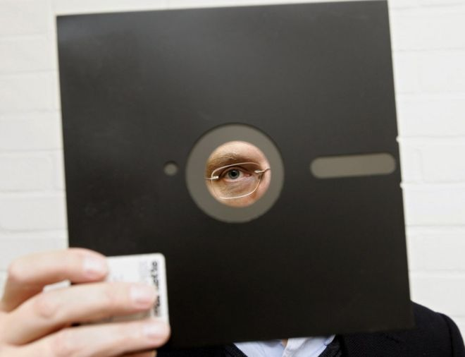 File image of an 8in floppy disk