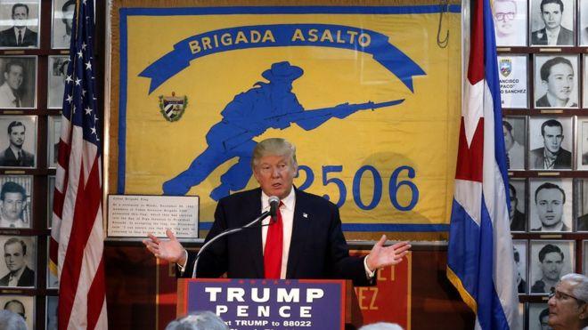 Resultado de imagen de trump contra  cuba