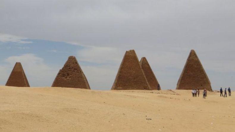 Pirámides del Reino Kush, en Sudán.