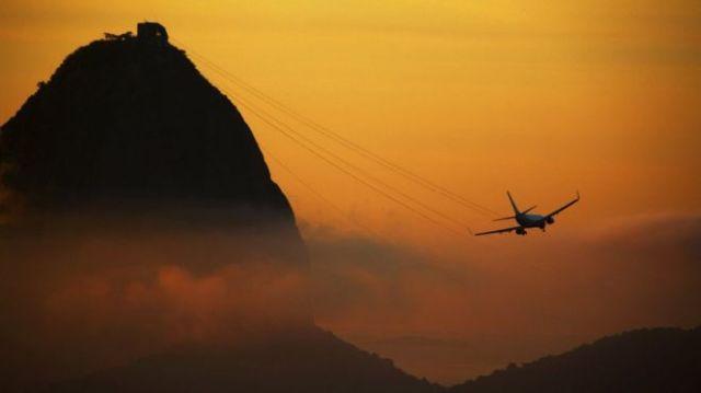 PLane over Sugar Loaf mountain, Brazil