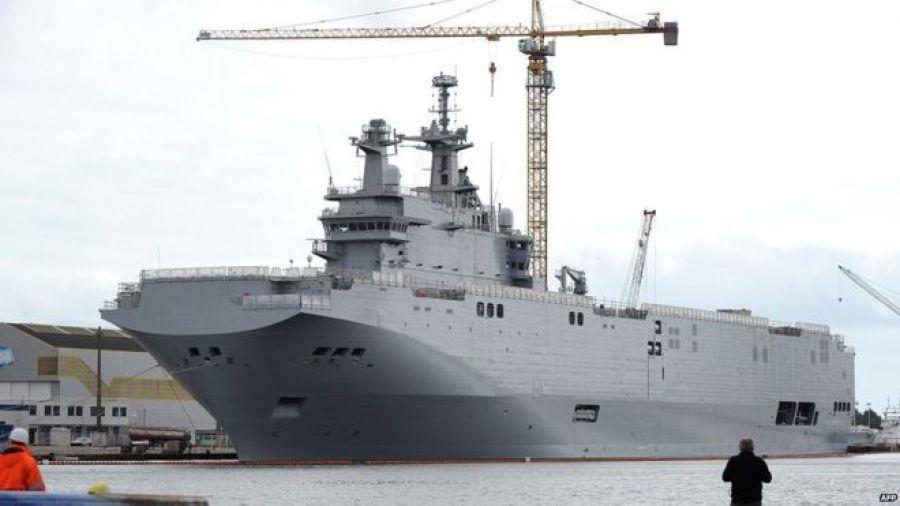 Vladivostok warship in Saint-Nazaire