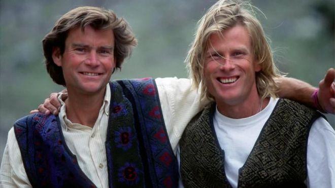 Alex Lowe (L) and David Bridges in 1995
