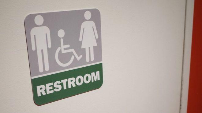 A gender neutral bathroom at a restaurant in Washington