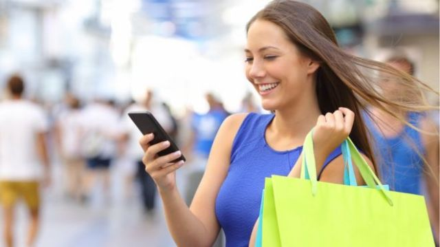 Image result for Using mobile phones for shopping