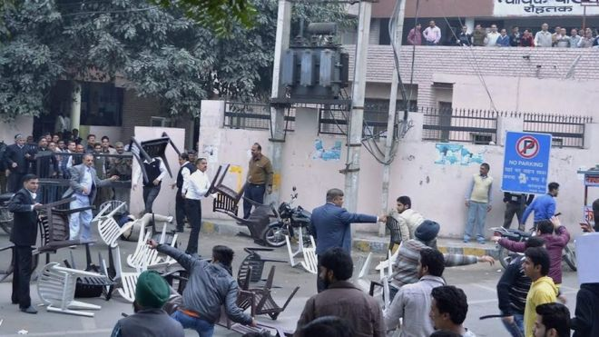 Clashes between rival caste groups in Haryana