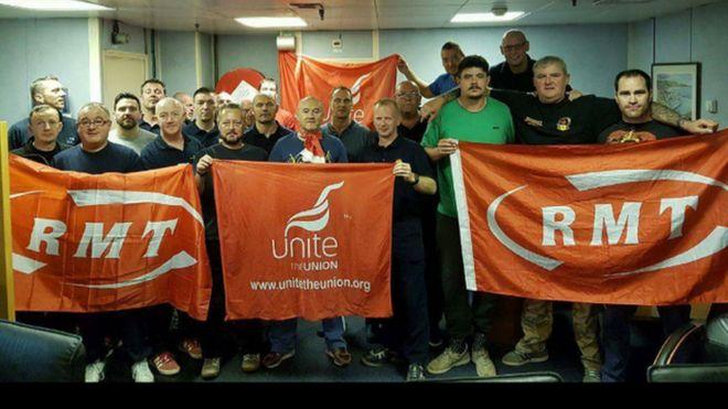 striking oil workers
