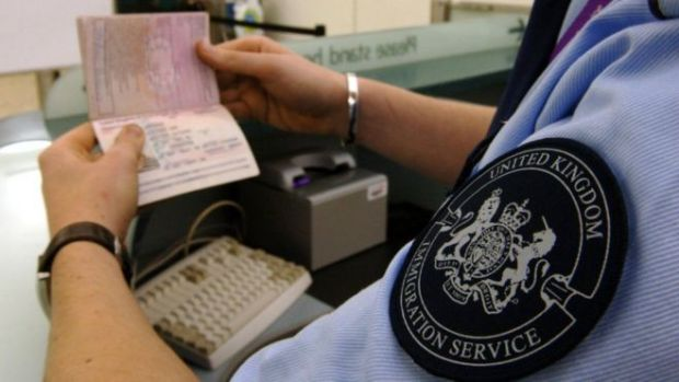Heathrow passport control - file pic