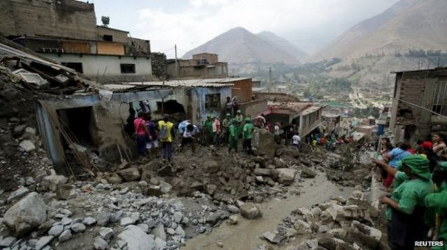 Image result for mudslide in Peru