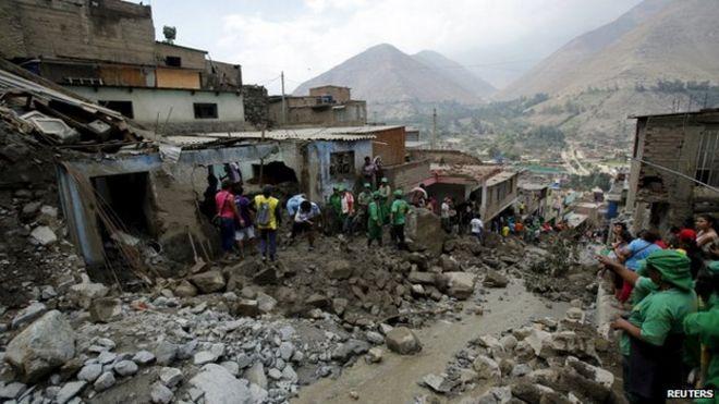 Image result for mudslide in Peru
