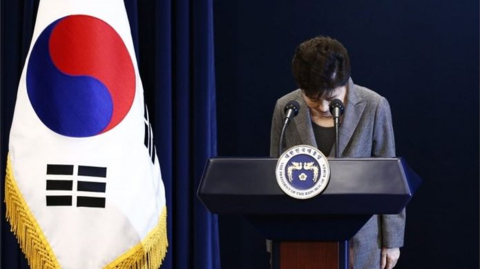 South Korean President Park Geun-hye in Seoul (29 Nov 2016)
