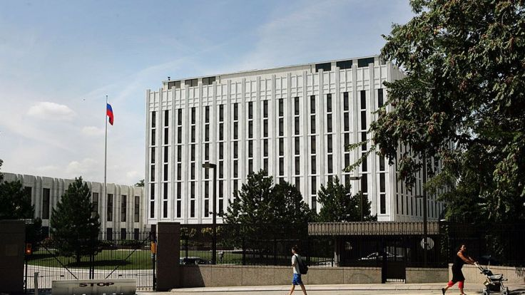 The Russian embassy in the US