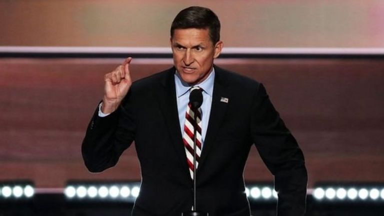 Michael Flynn at the Republican National Convention