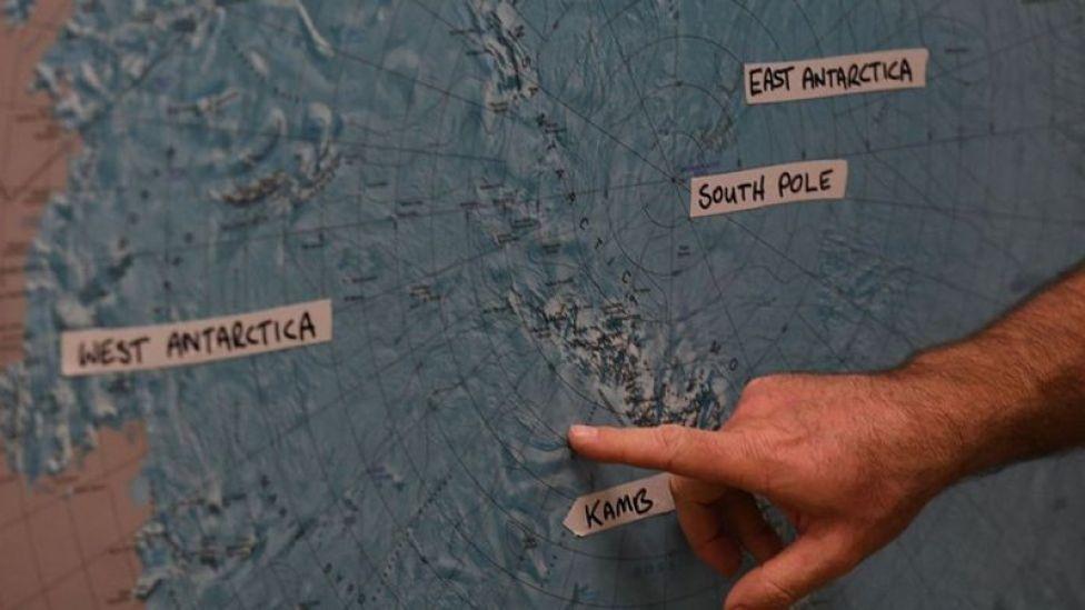 Un mapa de la Antártida.