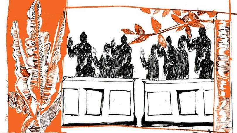 Ilustração reproduz o júri